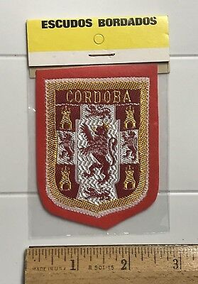 NIP Spain Cordoba Cordova Espana Rampant Lion Crest Coat Arms Felt Patch Badge