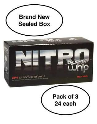 Whip-it! Nitro Cream Chargers, 24 Pack - 3 Pack