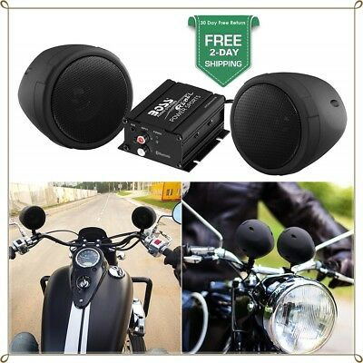 Boss Audio 600w Bluetooth Speakers+Amplifier Handlebar System for Motorcycle ATV