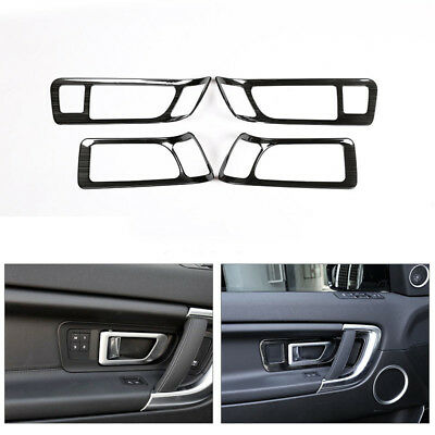 Car Black Vein Stainless Interior Door Handle Cover Trim For Discovery Sport