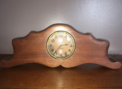 VintageTrue Time Tellers Tell-Tale The New Haven Clock Co. USA with wood Antique