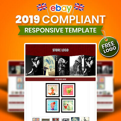 Profesional eBay Auction Template Mobile Responsive 2018 Policy Art Photography