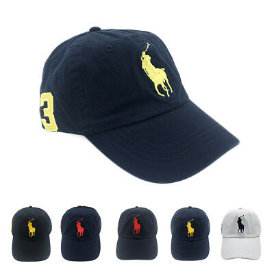 Polo RL Baseball Cap 3 Fine Embroideried Big Pony School Tennis Unisex Sun Hat