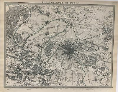SDUK The Environs of Paris 1832 Chapman & Hall Map France