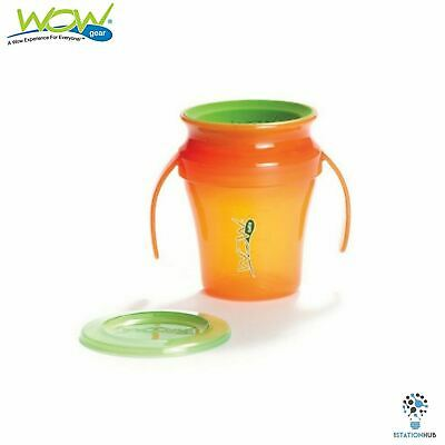 JUICY! WOW Gear Baby Translucent Spill Free Training Cups | 9+mth | Orange/Green
