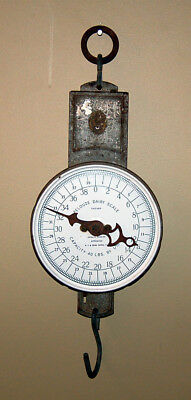Vintage / Antique c 1920s PELOUZE 40 lbs Dairy Scale - Sold By MONTGOMERY WARDS