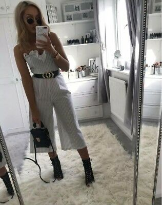 f9c90c269040 SIZE 6 PRIMARK Striped Black And White Jumpsuit BNWT - Was £13 ...