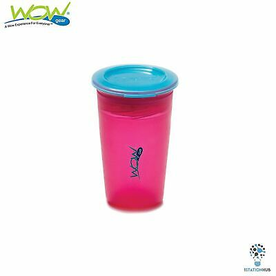 JUICY! WOW Cup for Kids Translucent Spill Free Tumblers | 12+ Months | Pink/Blue