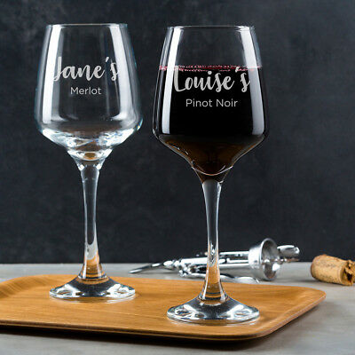 PERSONALISED ENGRAVED WINE Glass Gifts