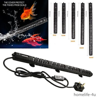 Submersible Aquarium Heater 50W 100W 200W 300W 500W Fish Tank Thermostat Uk Plug