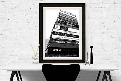 Fashion Books Print Poster Wall Art A4 Women Gift Girly Fashion Decor -102