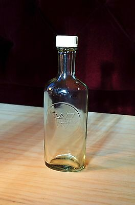Antigua Botella De Farmacia Wassermann / Pharmacy Vintage Crystal Bottle Of 60´s