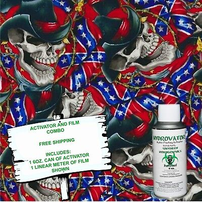 Hydrographic Film Water Transfer Hydro Dip 6Oz. Activator & Cowboy Skulls Kit