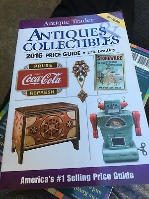 Antique Trader Antiques and Collectibles Price Guide 2016 by Bradley New