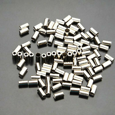 7EE6 100pcsCycle Metal Brake Cable Housing Ferrule End Caps Crimp For Bicycle