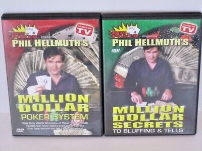 Phil Hellmuth's Million Dollar Poker System & Million Dollar Secrets DVD Lot