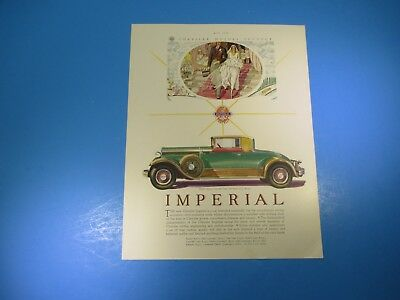 Vintage May 1929 Chrysler Imperial Convertible Coupe Advertising PA108