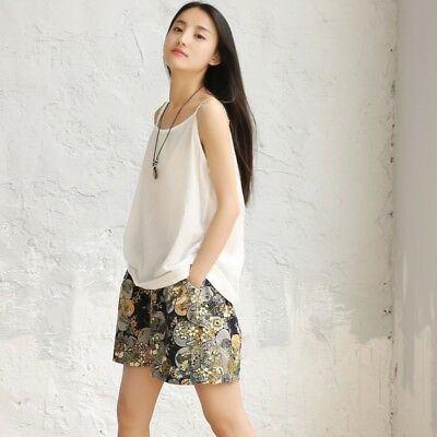 a4c264b7966f Lady Linen Cotton Camisole Vests Tank Tops Loose Casual Summer Solid  Undershirts