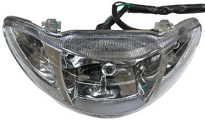 "Headlight Fits Many Chinese 50cc Scooters W=9.5"" H=3.5"""