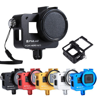 PULUZ For GoPro HERO 6/5 CNC Aluminum Alloy Housing Shell Case Protective Cage