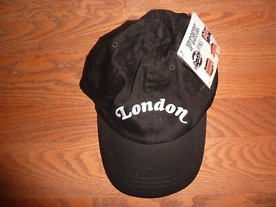 """Victorias Secret Pink """"London"""" One Size """"Pink"""" With 4 London Pins Hat Cap Nwt"""