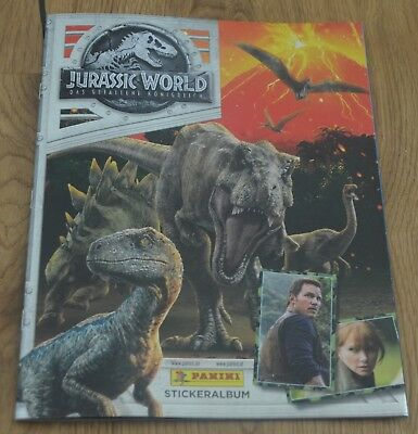 Panini Jurassic World Sticker Series 2 the Fallen Kingdom of Empty Album Album