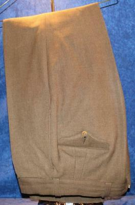 Wwii Us Army Tailor Made Named Dated Olive Drab Wool Pants Trousers Button  3022