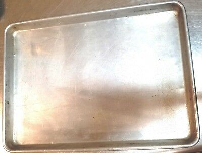 Half Size Aluminum Sheet Pan 18 x 13 Commercial Baking Bread Cookies - 2 Pack