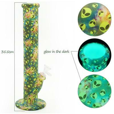 4 STYLES Unbreakable Glow In The Dark Silicone Bong 14 inch (SEE DETAILS)