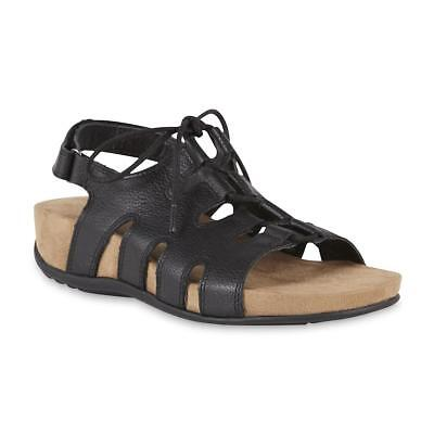094329c3269f Cobbie Cuddlers Women s Sandal Maizie Black Leather Memo Tech Sole Size 5
