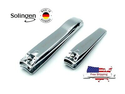 2 pcs SET FINGER NAIL CLIPPER SOLINGEN STAINLESS STEEL TRIMMER TOE CUTTER NIPPER