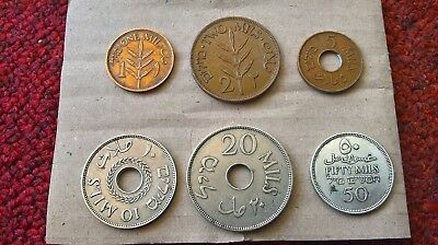LOT of 6 Palestine Mils Nice Collectable Condition