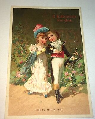 Rare Antique Victorian American R.H. Macy & Co. (Macy's) Advertising Trade Card!