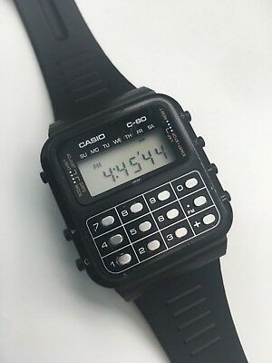Rare Vintage Casio C 80 133 Calculator Watch Fully Working