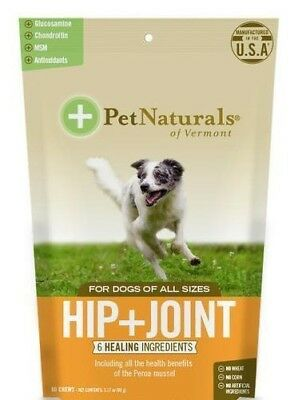 Pet Naturals Hip & Joint For Dogs of All Sizes, 60 Duck Flavour Chews