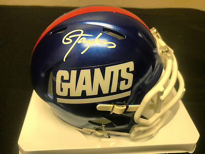 LAWRENCE TAYLOR SIGNED COLOR RUSH NY GIANTS MINI HELMET - TRISTAR  Authentication 3709fda67