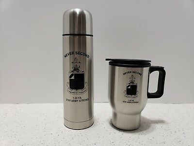 Coffee Cup & Thurmas Military 1-22 Field Artillery Ft Sill Oklahoma Army Strong