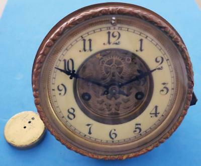 Antique Waterbury 8-Day Time & Strike Open Escapement Movement Assembly 4 Parts