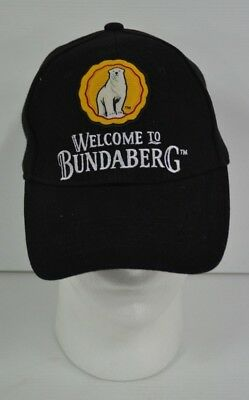 Bundaberg Rum Brand New Black Cotton Snap Back Hat Cap One Size Fits Most