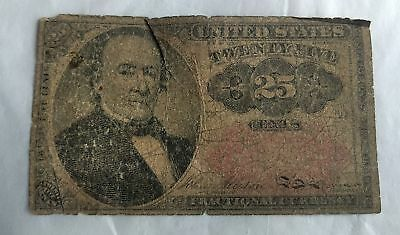 1864 25 Cents US Fractional Currency Banknote