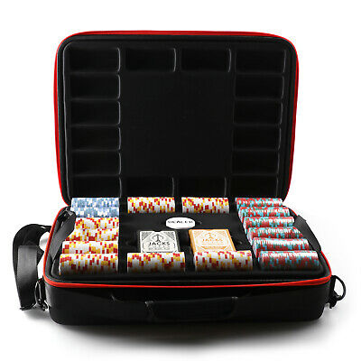 1000 Chips Poker Game Set Cleopatra's 14g Chips Viper Case Plastic Cards