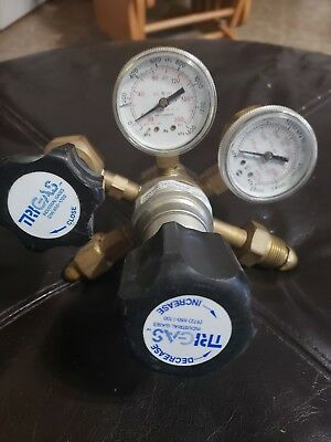 Trigas compressed gas regulator. HPT500-125-580-DK 300PSI
