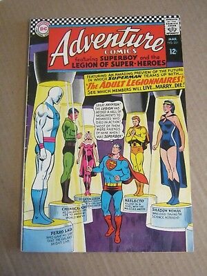Adventure Comics #349 March 1967 Legion of Super-Heroes Adult - DC Curt Swan   K