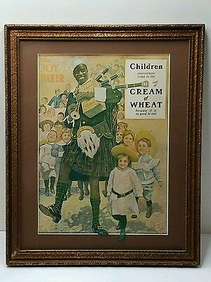 "Antique Cream of Wheat 1906 Advertising Print Orig "" THE JOY MAKER "" Chef Rastus"