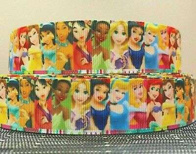 DISNEY PRINCESS WAVE EDGED GROSGRAIN RIBBON Crafts 1 YARD 22mm wide