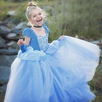 9c3033f5a85e6 Princess Cinderella Halloween Costume Special Party Deluxe Dresses Dress-Up  Set