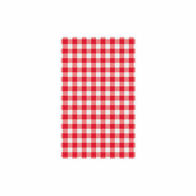 Greaseproof Paper Large 425x320mm Gingham Red Checkered 200Sheets/Pack BULK BUY