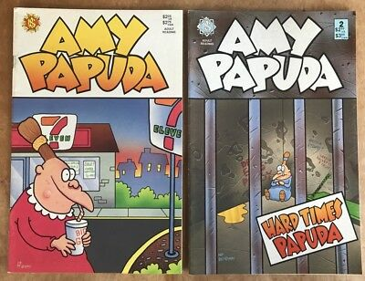 Amy Papuda #1 & #2 1990 Michael Pearlstein  Vg+/fn+