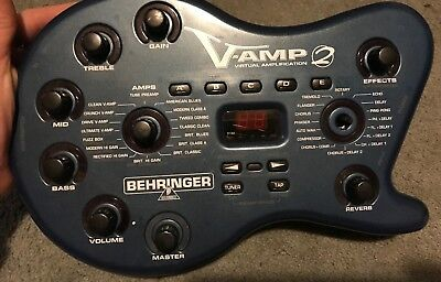 Behringer V-Amp 2 Virtual Amplification Guitar Digital Effects Unit Only