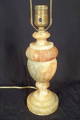 ANTIQUE EARLY 20th CENTURY CARVED ITALIAN MARBLE URN LAMP